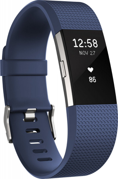 fitbit Charge 2, Blue Silver Small