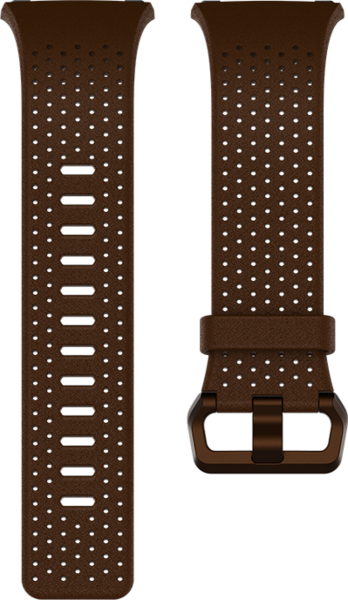 fitbit Ionic, Accessory Band, Leather, Cognac, Large