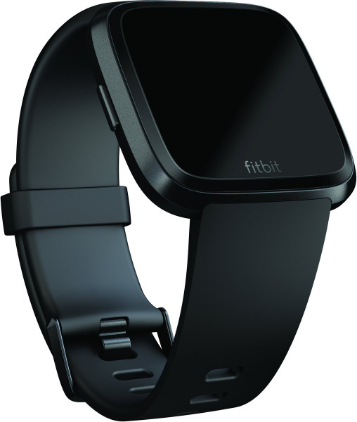 fitbit Versa, Classic Accessory Band, Black, Large