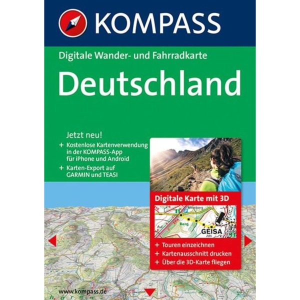 KOMPASS Digitale Karte - Deutschland 3D 2xDVD (2014)
