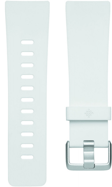 fitbit Versa, Classic Accessory Band, White, Large