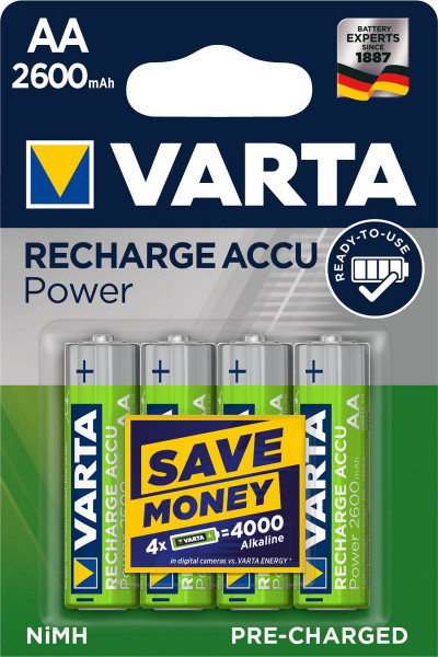 VARTA RECHARGE ACCU Power AA 2600mAh Blister 4