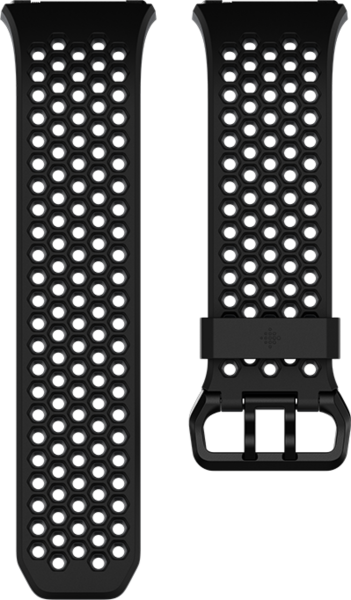 fitbit Ionic, Accessory Sport Band, Black, Gray, Large