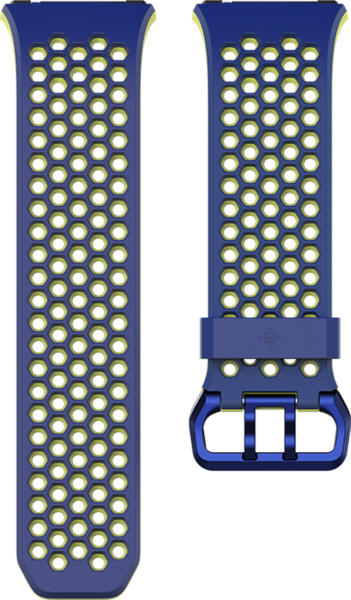 fitbit Ionic, Accessory Sport Band, Blue, Yellow, Small