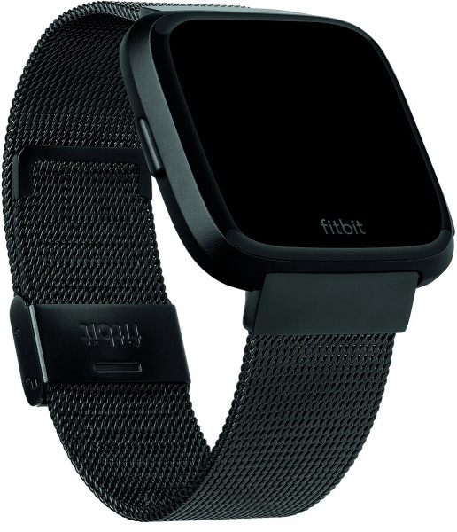 fitbit Versa, Acc. Band, Metal Mesh, Black Stainless Steel