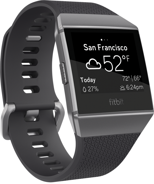 fitbit Ionic, Charcoal/Smoke Gray