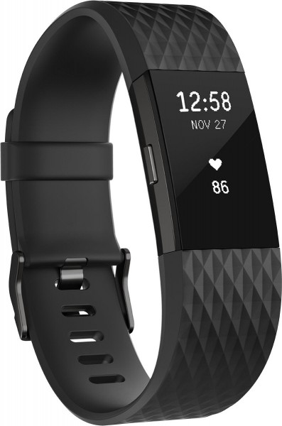 fitbit Charge 2, Black Gunmetal Large